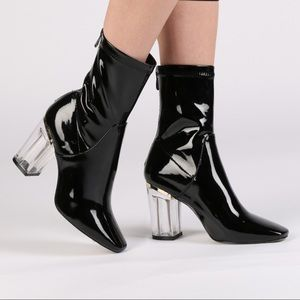 Shoes - Latex/ Perspex booties